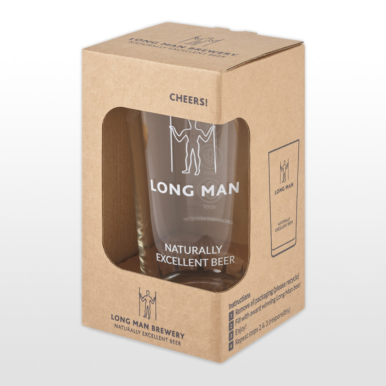 Long Man Pint Glass - Front