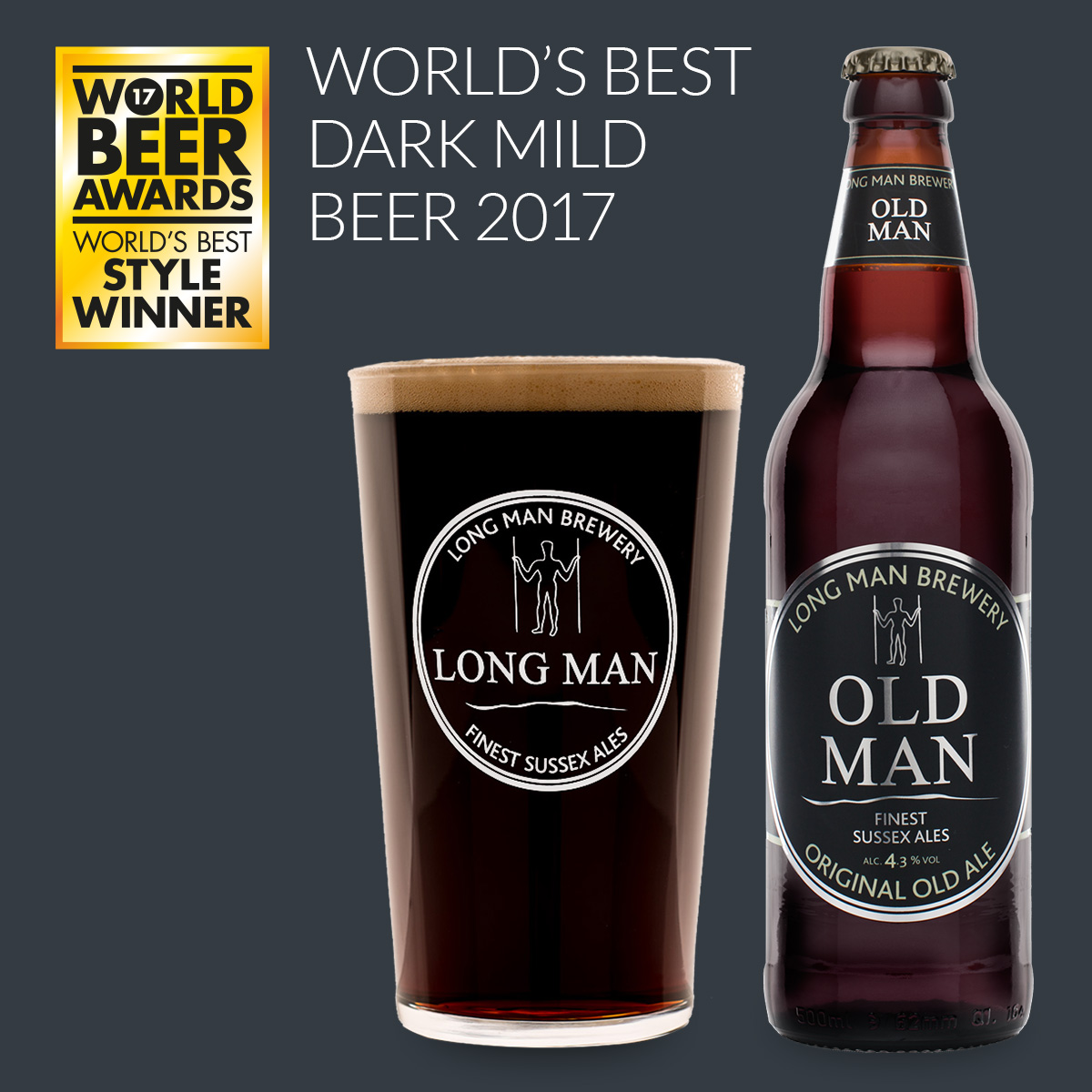 Old man Wordl's Best Dark mild Beer 2017