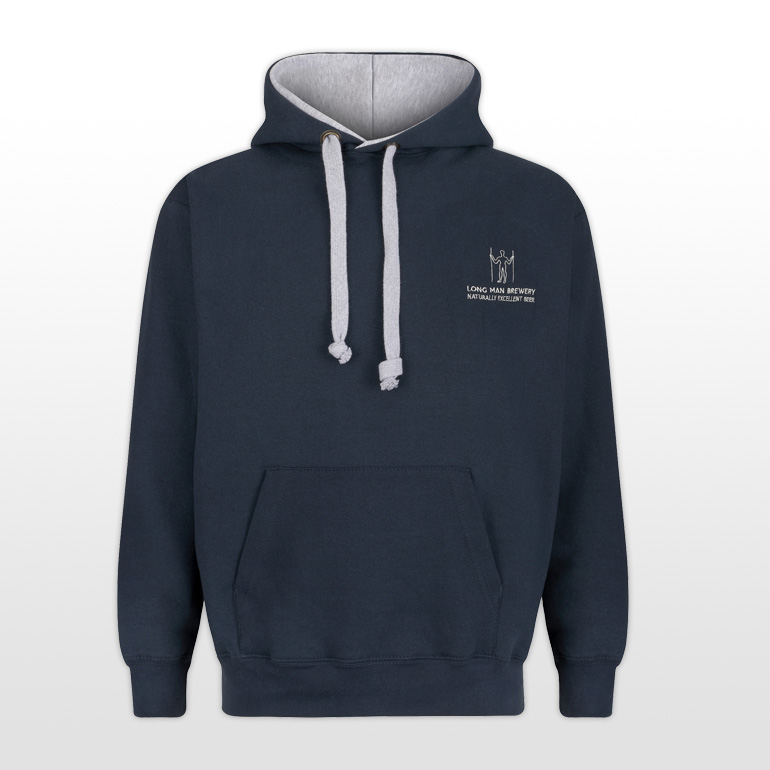 Long Man Hoody Blue - Front