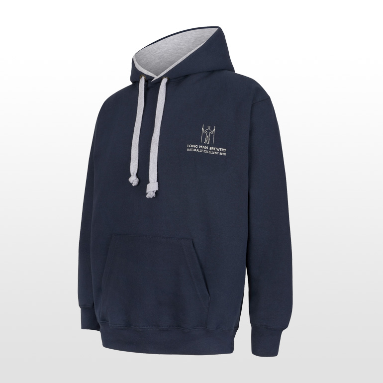 Long Man Hoody Blue - Side