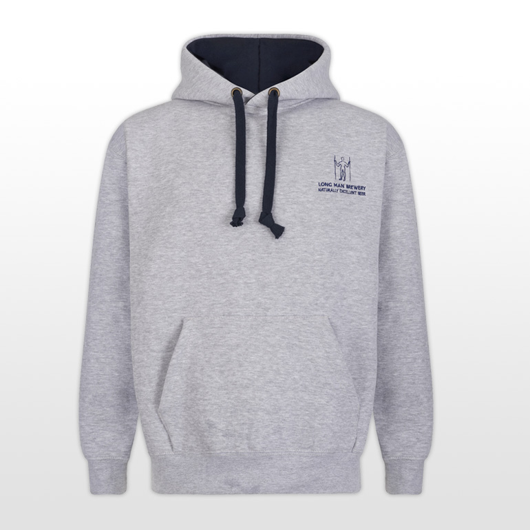 Long Man Hoody Grey - Front