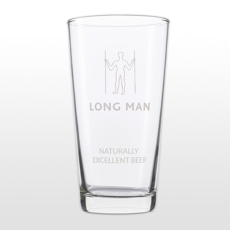 Long Man Pint Glass