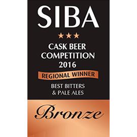 SIBA – Regional Cask Winner - Best Bitters & Pale Ales - Bronze - 2017
