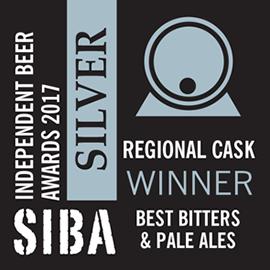 SIBA – Regional Cask Winner - Best Bitters & Pale Ales - Silver - 2017