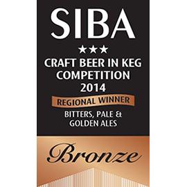 SIBA – Regional Winner - Bitters, Pale Ales & Golden Ales - Bronze - 2014