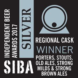 SIBA – Regional Cask Winner - Porters, Stouts & Old Ales - Silver - 2017